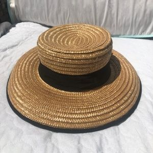 """Accessories - Straw """"Boater"""" hat"""